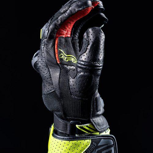 Black//Fluro Medium 9 FIVE RFX2 Airflow Motorcycle Gloves